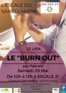 Conférence Burn out Dijon Escale 21 mai 2021